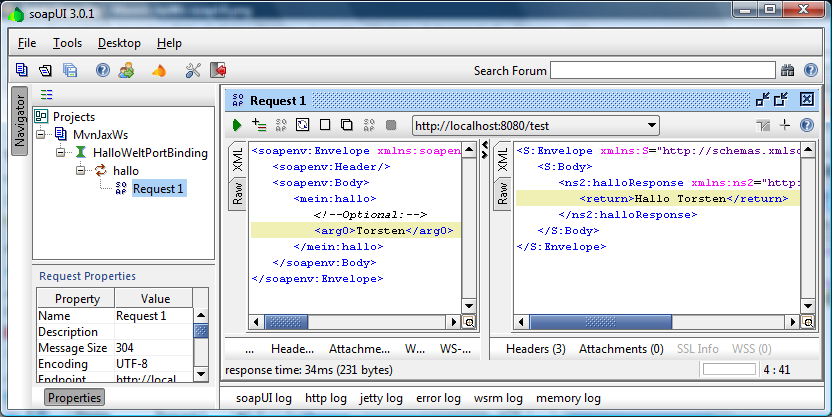 soapUI-Screenshot
